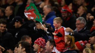 A young Welsh rugby fan
