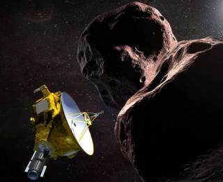 Artwork: New Horizons at Ultima Thule