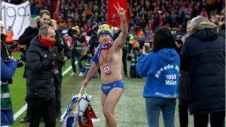 Speedo Mick at Merseyside derby