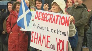 Protesters at Culloden