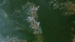 NASA satellites tracked actively burning fires across South America and captured images of smoke in the last week.