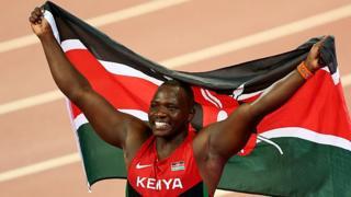 "Julius Yego, champion olympique et champion du monde en "" lancer du javelot ""."