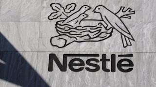 The logo of Nestle, the Swiss food giant, is seen on the companys Headquarters in Vevey, Switzerland 23 August 2006.
