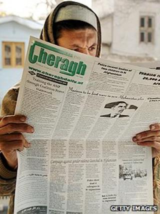 Reader of an Afghan paper