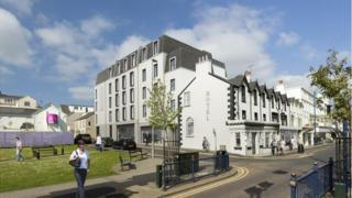 design drawing for portrush hotel
