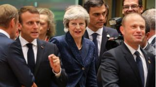 Theresa May at the Brussels summit