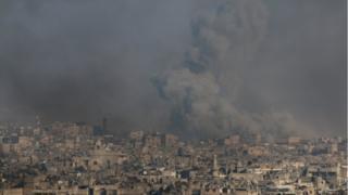 الهجمات على حلب