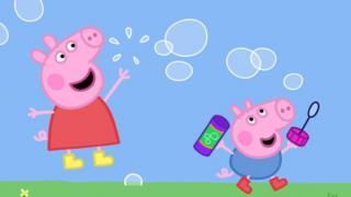 Peppa Pig and friend