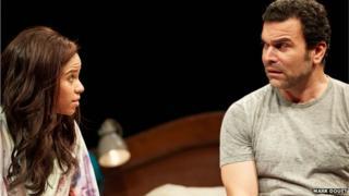 (l-r) FLOR DE LIZ PEREZ (Veronica) & RICARDO CHAVIRA (Jackie)
