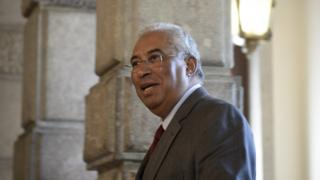 Socialst Antonio Costa arrives