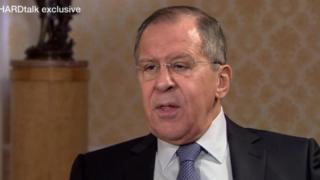 俄羅斯外長拉夫羅夫接受BBC獨家專訪表示,敘利亞化學武器攻擊證據來自媒體報道。
