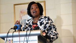 Dr Monica Juma wasiirka arrimaha dibedda Kenya
