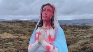 The statue of the Virgin Mary on Crockanboy Hill