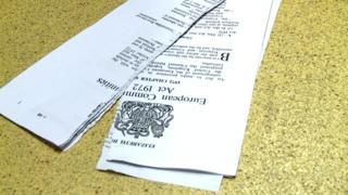 European Communities Act paperwork