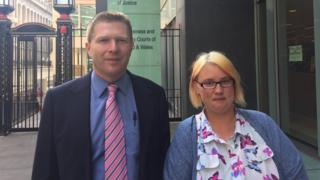 Lawyer Dan Rosenberg with Amie Falconer