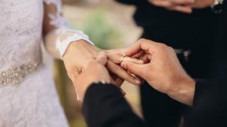 Stock image of wedding ceremony