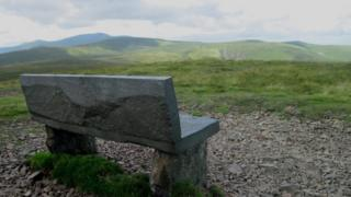 Bench dedicated to Mick Lewis, 16, on High Pike