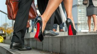 Louboutin shoes of Vlaams Belang senator Anke Van Dermeersch are pictured on 27 September 2013