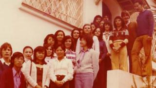 Primeira de formados no curso de Ciência da Computação do IME, em 1974
