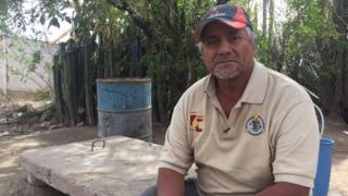 Jesus Oliva, the night watchman on the site who lost his job when Ford pulled out of the 1.6 billion dollar investment