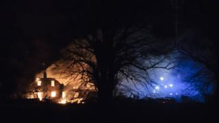 Fire at house in Thorney