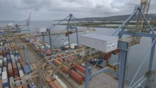 Shipping containers at Port of Belfast