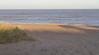 Beach south of Sutton on Sea