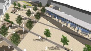 Artist impression of Port Talbot transport hub