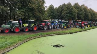 Tractors in The Hague on 1 October