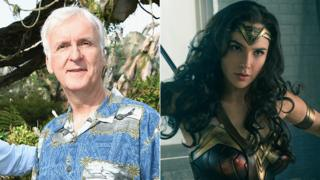 James Cameron and Gal Gadot