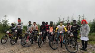 People on bikes at Bike Park Wales