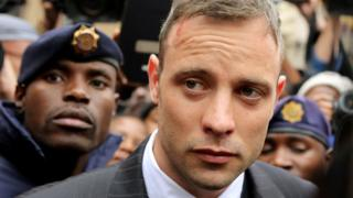 Oscar Pistorius leaves court in 2016
