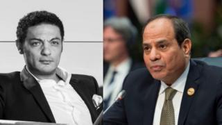 الرئيس المصري عبد الفتاح السيسي والمقاول والممثل المصري محمد علي