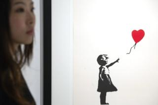 File picture of Banksy artwork entitled Girl with Balloon