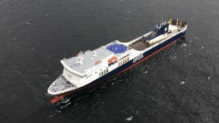 Regina Seaways ferry in a photo released by Lithuania's authorities on 2 October 2018