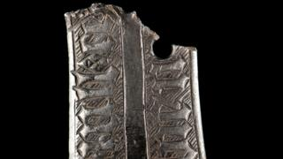 The 300-year-old silver mount found by a metal detectorist in Monmouthshire