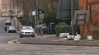 Police cordon on Holliday Street, Birmingham