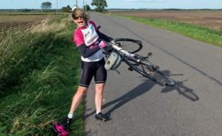 Kajsa Tylen fighting the wind
