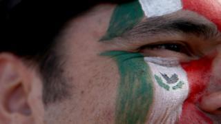 Mñexico pintado en la cara