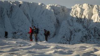 Hillwalkers at Lochnagar