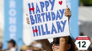 Happy birthday Hillary sign