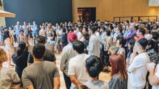 Protesta de empleados de Google en Singapur