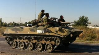Russian armoured vehicle - file image
