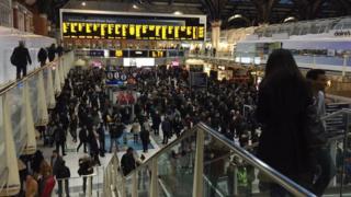 Commuters stuck at London Liverpool Street