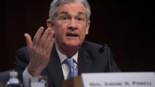 Chairman of the Federal Reserve nominee Jerome Powell testifies during his confirmation hearing in Washington, DC.