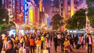 上海繁华的商业街
