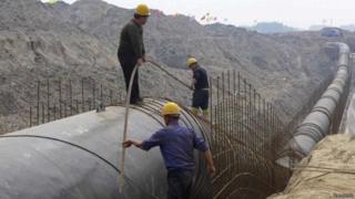 Tubos para água na China