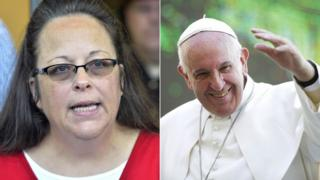 Kim Davis and Pope Francis