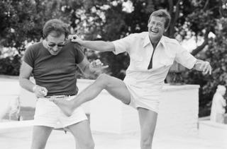 Peter Sellers and Roger Moore