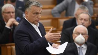 Viktor Orba in parliament March 2020